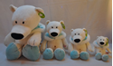 Изображение 360-119 медведь белый, 25см, 908115