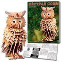 Изображение 9214 Пестрая сова, сборная модель из дерева (Рыжий кот)