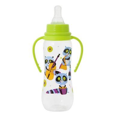 Изображение 11028 Бутылочка для кормления с ручками, Енотики,250 мл, 6+