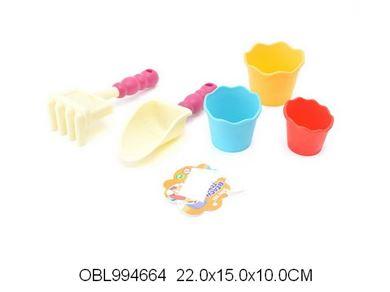 Изображение 6609 набор песочный,формочки +лопатки в сетке 994664