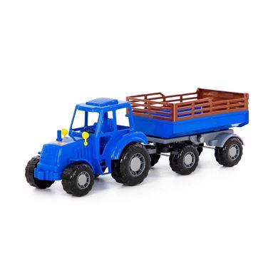 Изображение Алтай, трактор с прицепом №2, (синий), в сеточке, арт.84767
