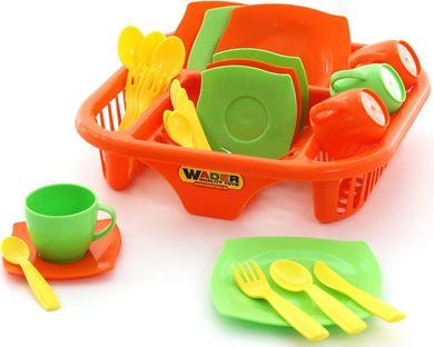 """Изображение Набор посуды """"Алиса"""" с сушилкой на 4 персоны, арт.40725"""